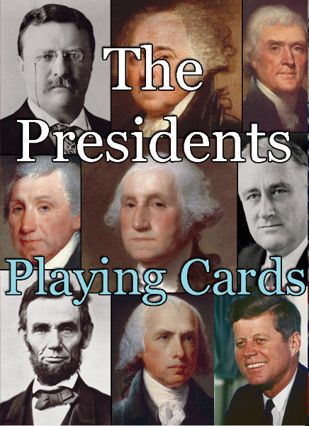 The Presidents Playing Cards box front